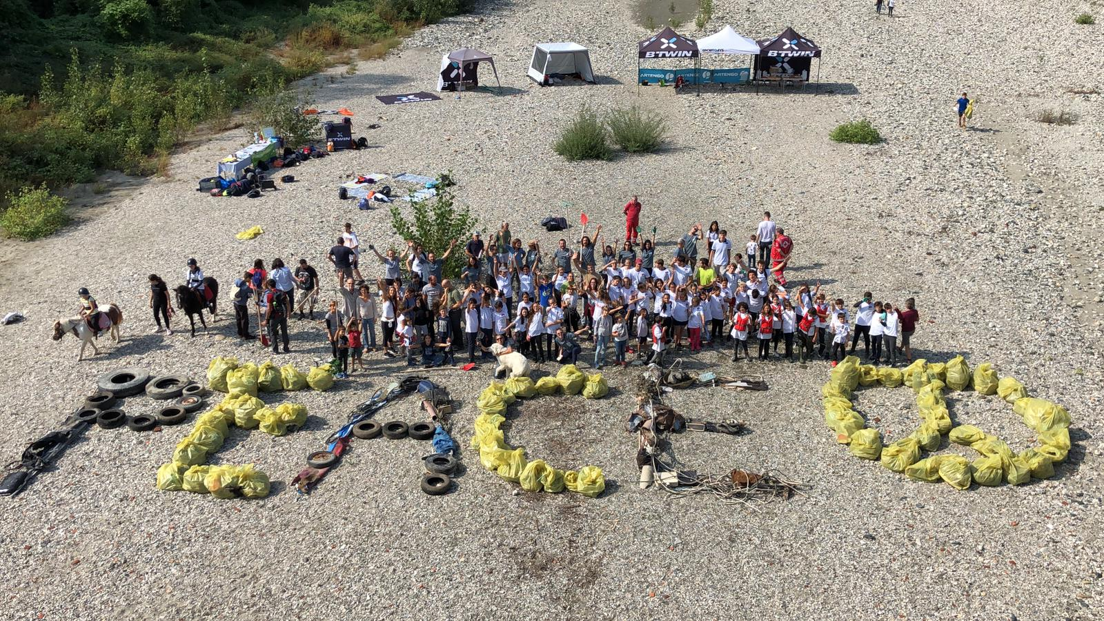 World Cleanup Day, gli studenti del Vittoria puliscono le sponde del  Po